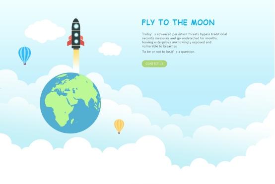 网页页头的插画能让用户充满发现的乐趣.